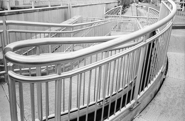Sweeping Accessibility Ramp Handrailing