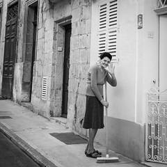 Sweeping in Valletta.