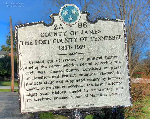 The Lost County of Tennessee Historical Marker - Ooltewah, Tennessee