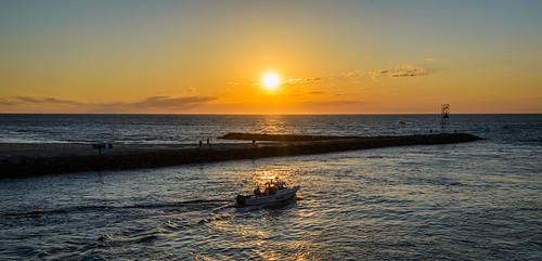belmar newjersey jerseyshore boat sunrise dawn