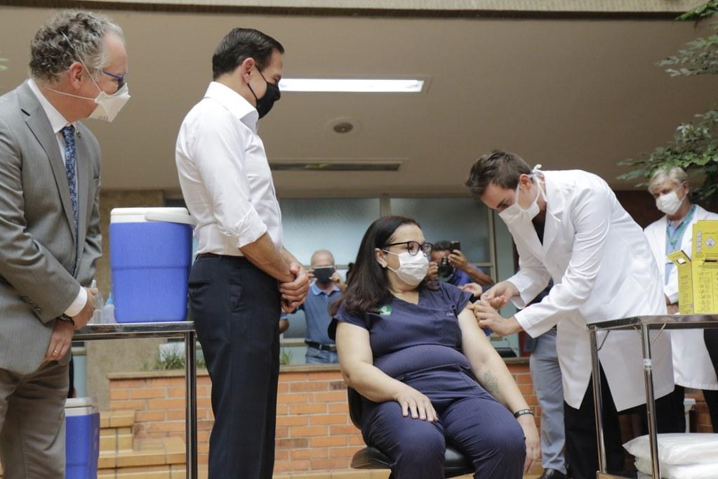 Início da imunização em Campinas
