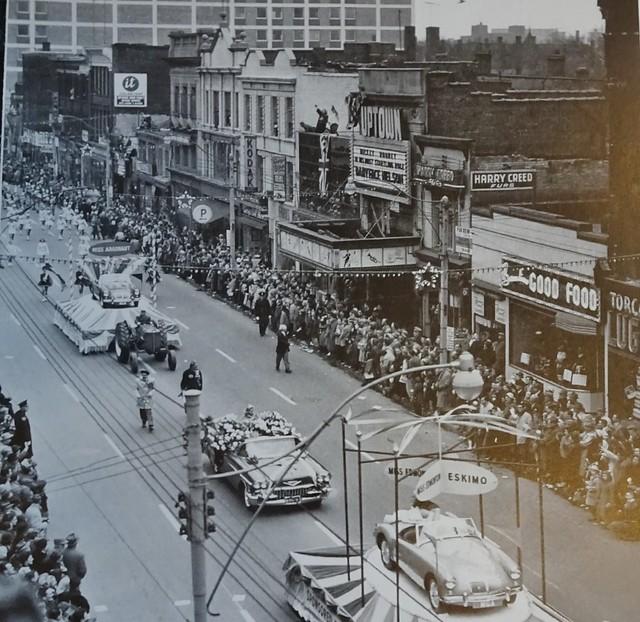 Yonge St., south of Bloor  1957