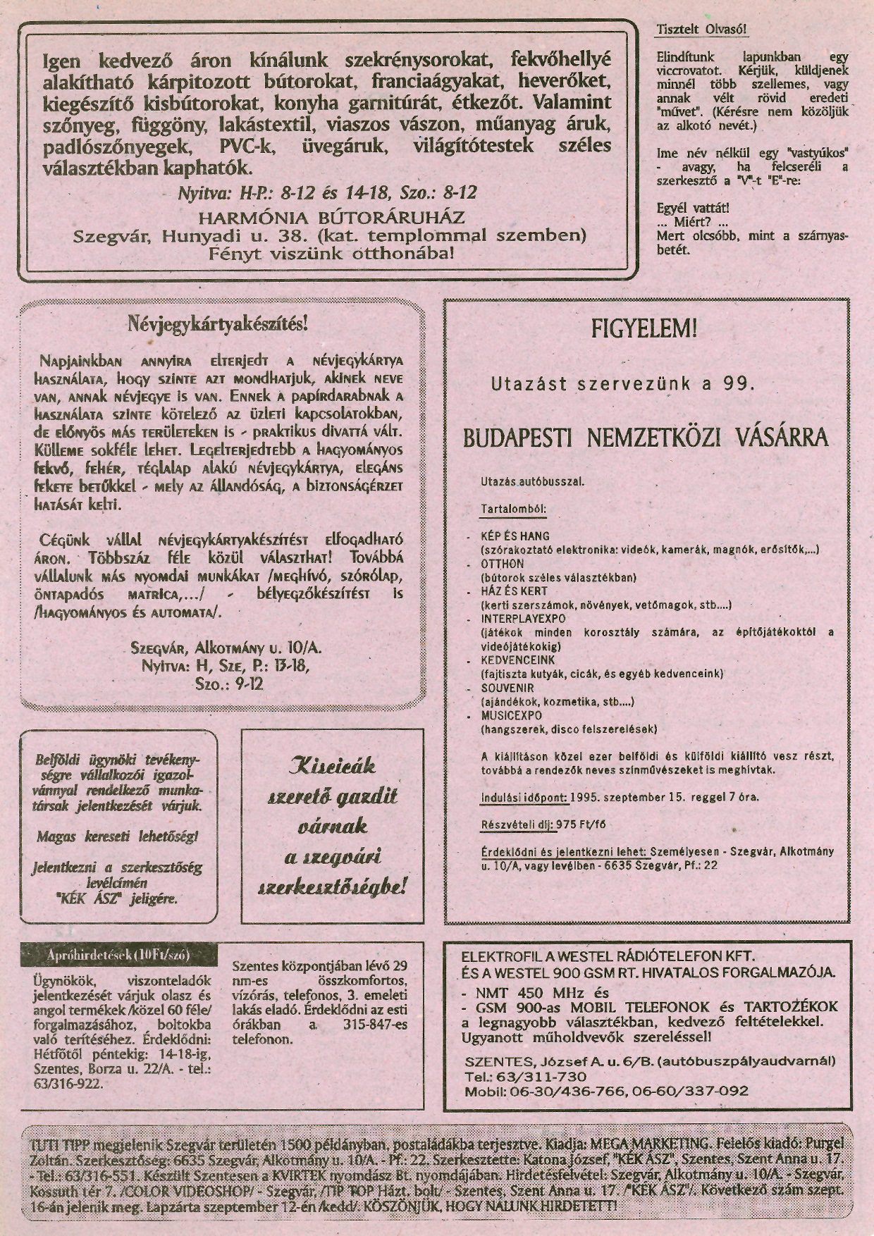 004 Tuti Tipp reklámújság - 19950904-002. lapszám -2.oldal - I. évfolyam.jpg