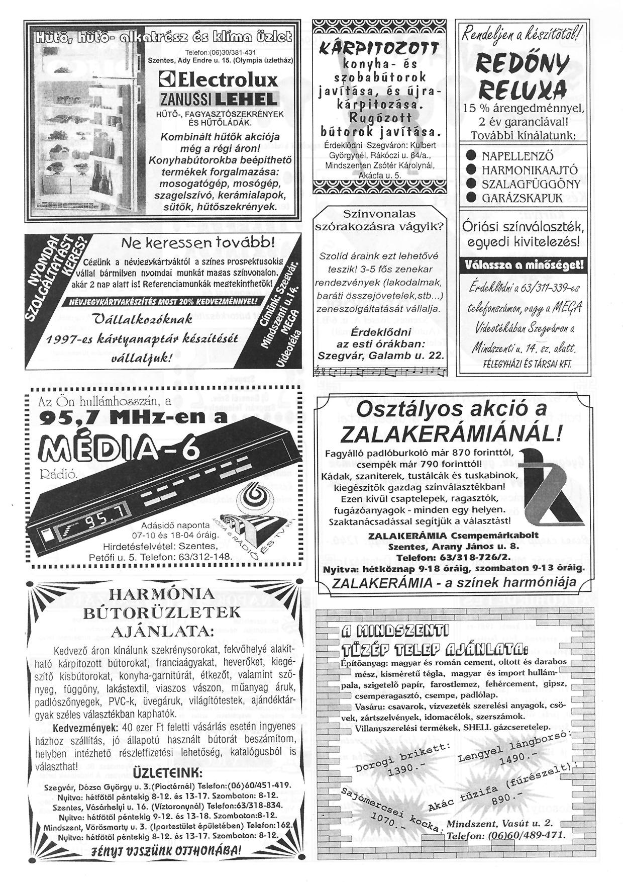 074 Szegvári Tuti Tipp reklámújság - 19961130-035. lapszám - 2.oldal - II. évfolyam.jpg