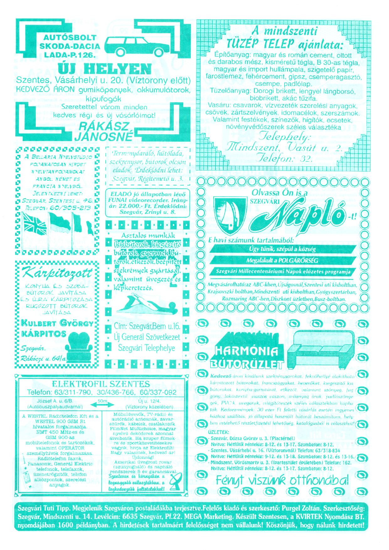 030 Szegvári Tuti Tipp reklámújság - 19960629-025. lapszám - 2.oldal - II. évfolyam.jpg