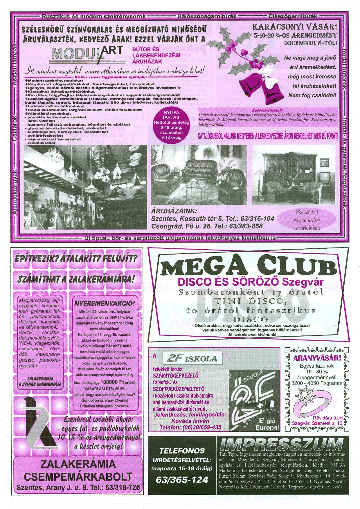 048 Tuti Tipp reklámújság - 19971203-075. lapszám - 2.oldal - III. évfolyam.jpg