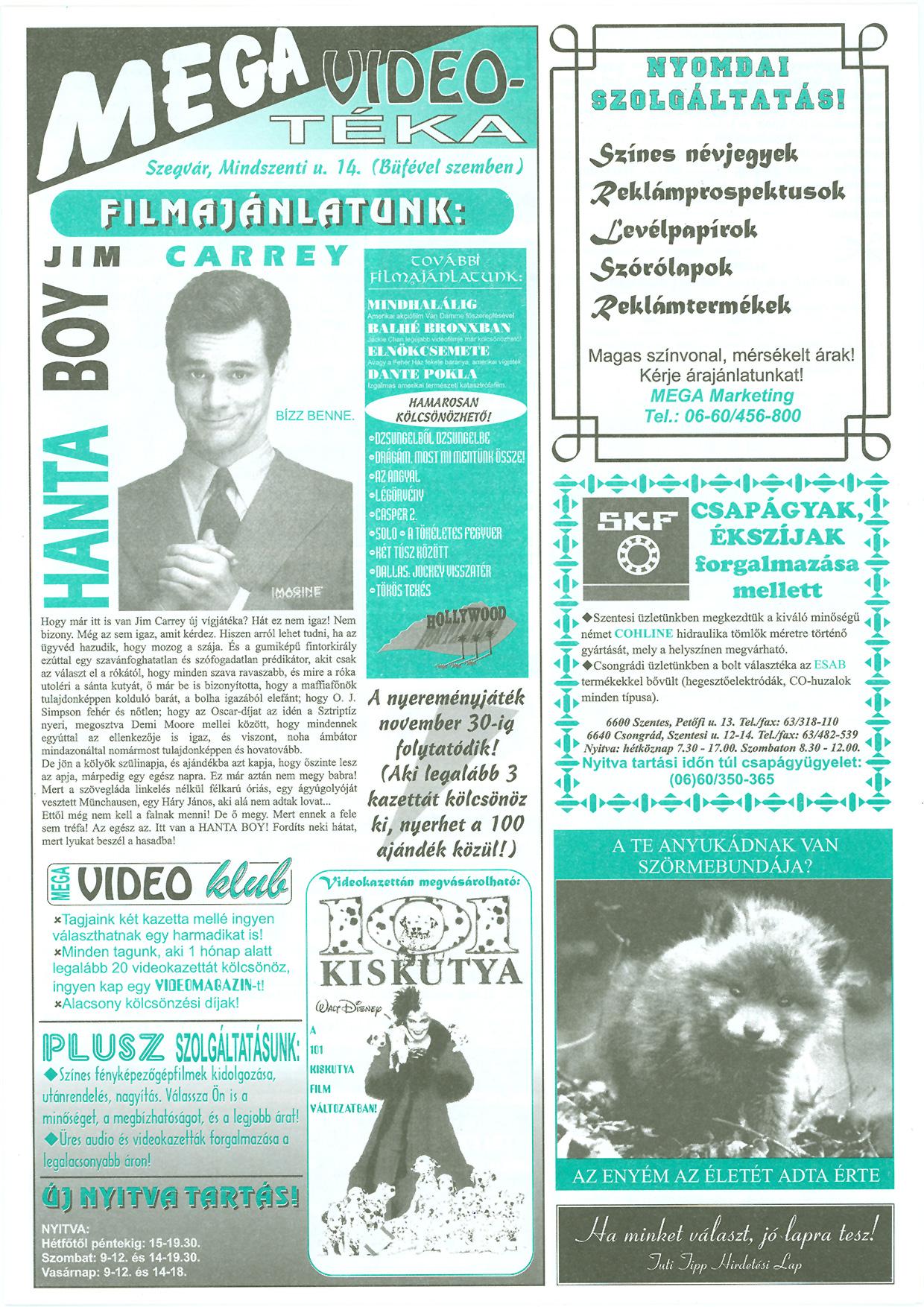 045 Tuti Tipp reklámújság - 19971122-074. lapszám - 3.oldal - III. évfolyam.jpg