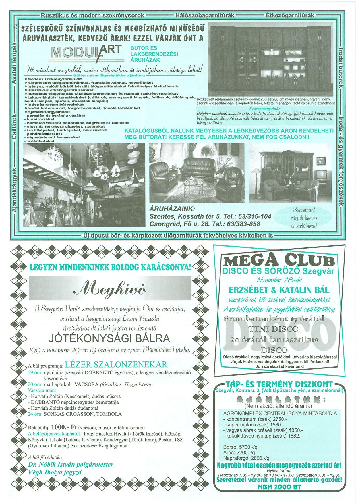 044 Tuti Tipp reklámújság - 19971122-074. lapszám - 2.oldal - III. évfolyam.jpg