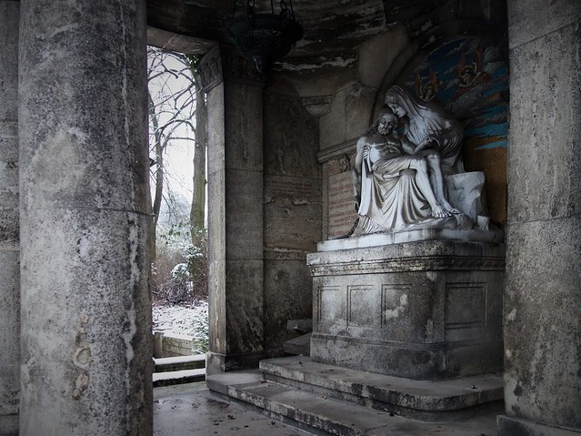 Pieta at main cemetery in Mainz