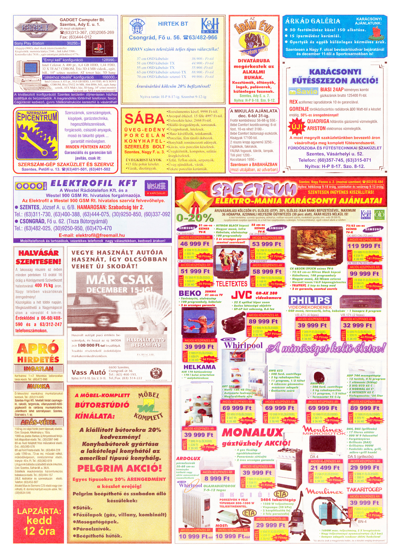 076 Tuti Tipp Extra reklámújság - 19991204-024. lapszám - 2.oldal - V. évfolyam.jpg