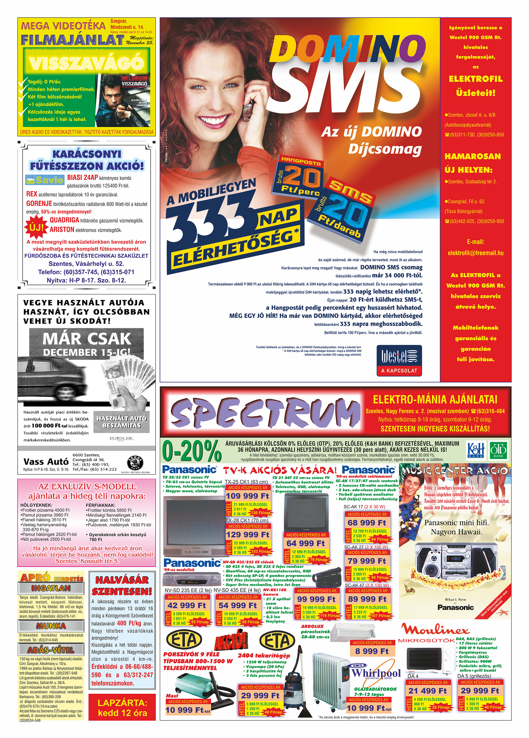 074 Tuti Tipp Extra reklámújság - 19991127-023. lapszám - 2.oldal - V. évfolyam.jpg