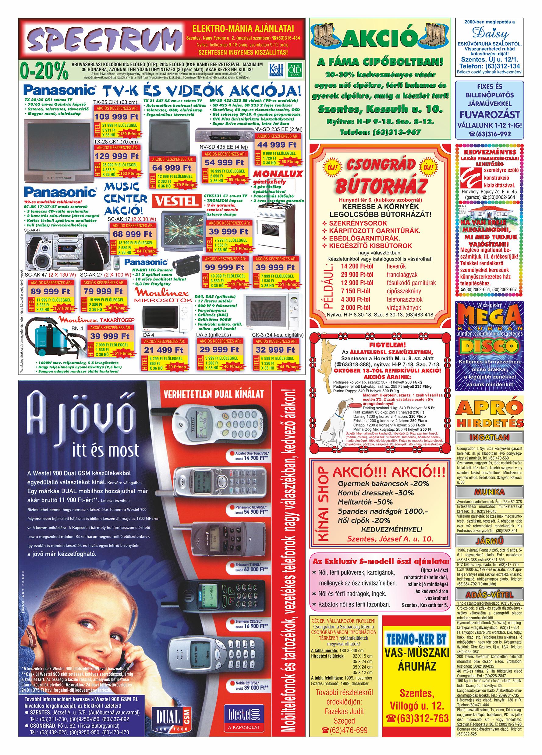 062 Tuti Tipp Extra reklámújság - 19991023-018. lapszám - 2.oldal - V. évfolyam.jpg