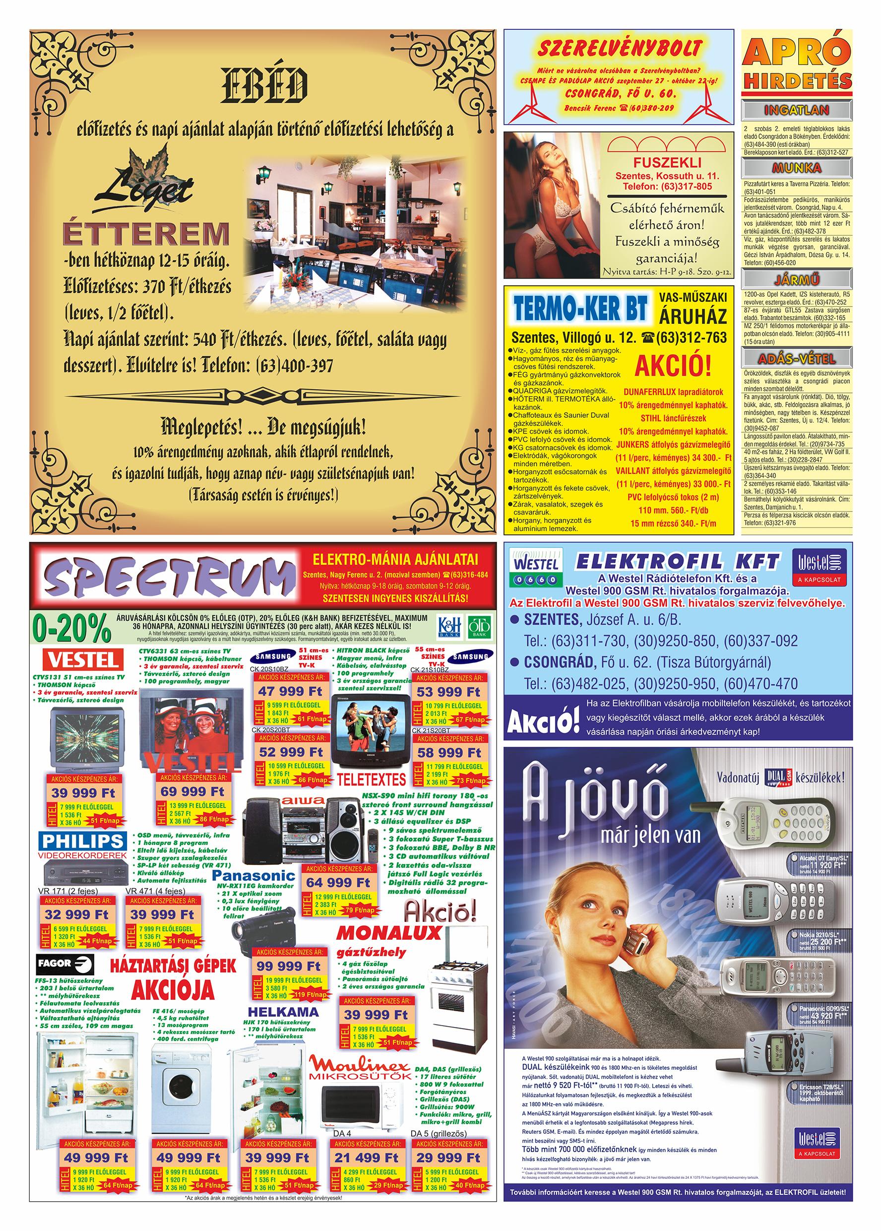 056 Tuti Tipp Extra reklámújság - 19991002-015. lapszám - 2.oldal - V. évfolyam.jpg