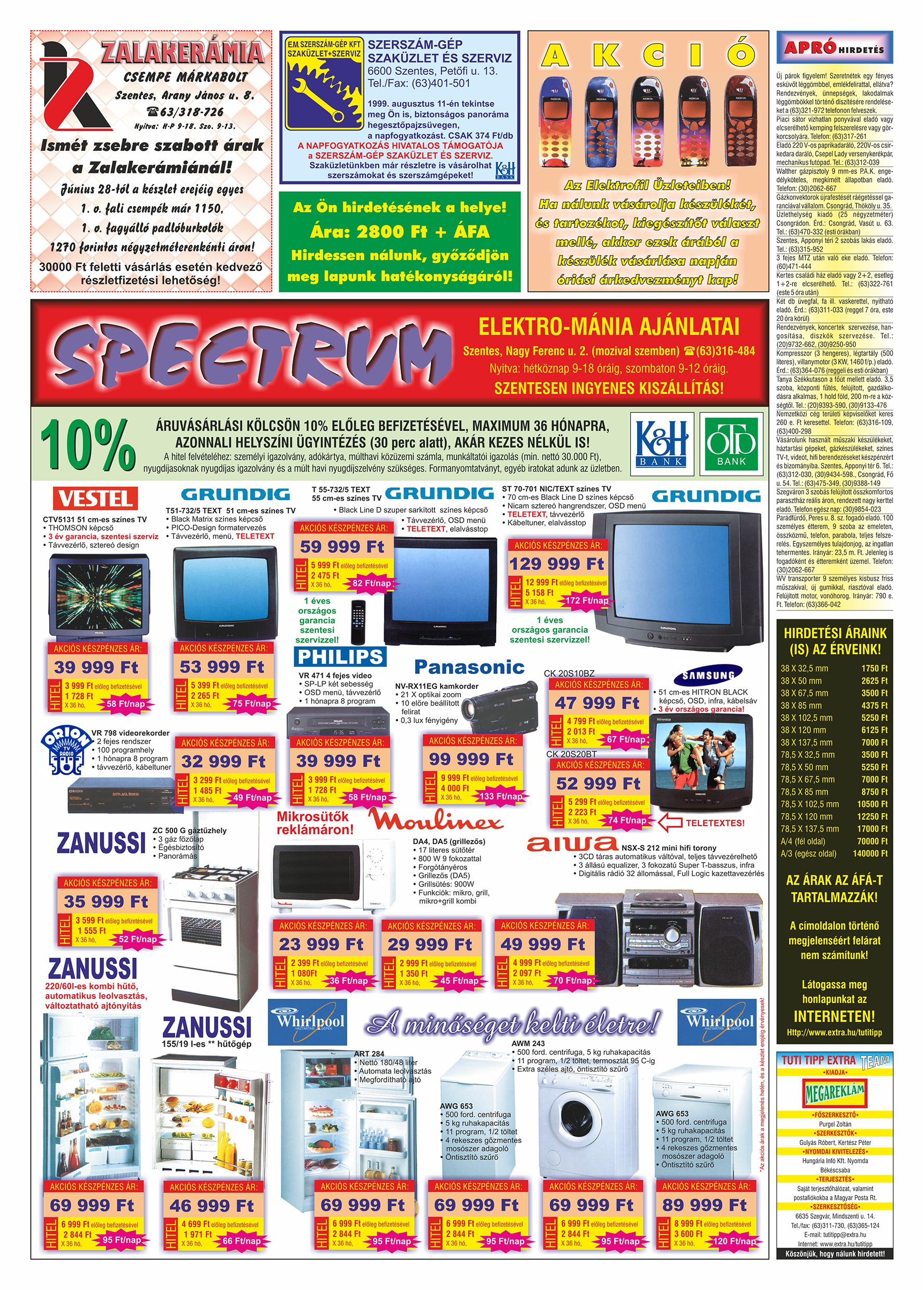 038 Tuti Tipp Extra reklámújság - 19990731-006. lapszám - 2.oldal - V. évfolyam.jpg