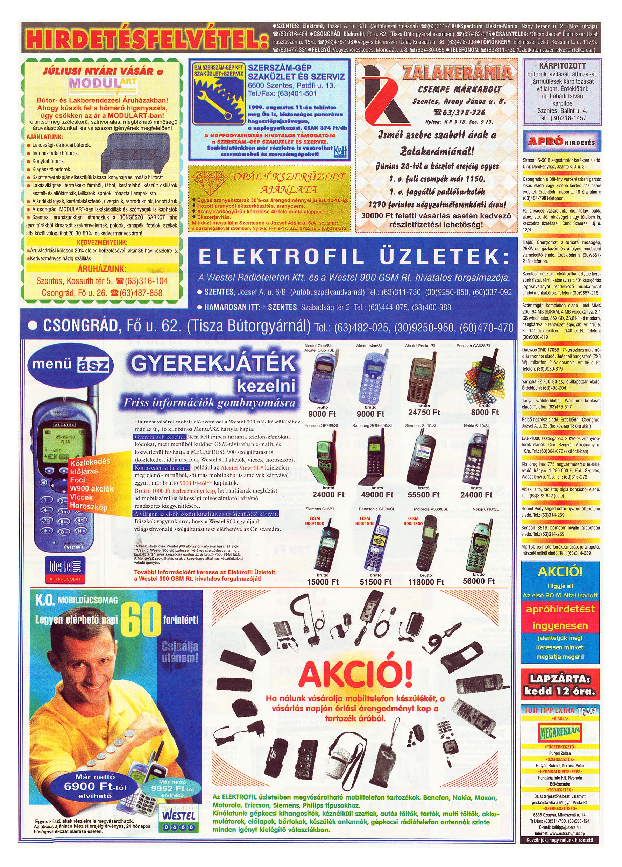 032 Tuti Tipp Extra reklámújság - 19990710-003. lapszám - 2.oldal - V. évfolyam.jpg
