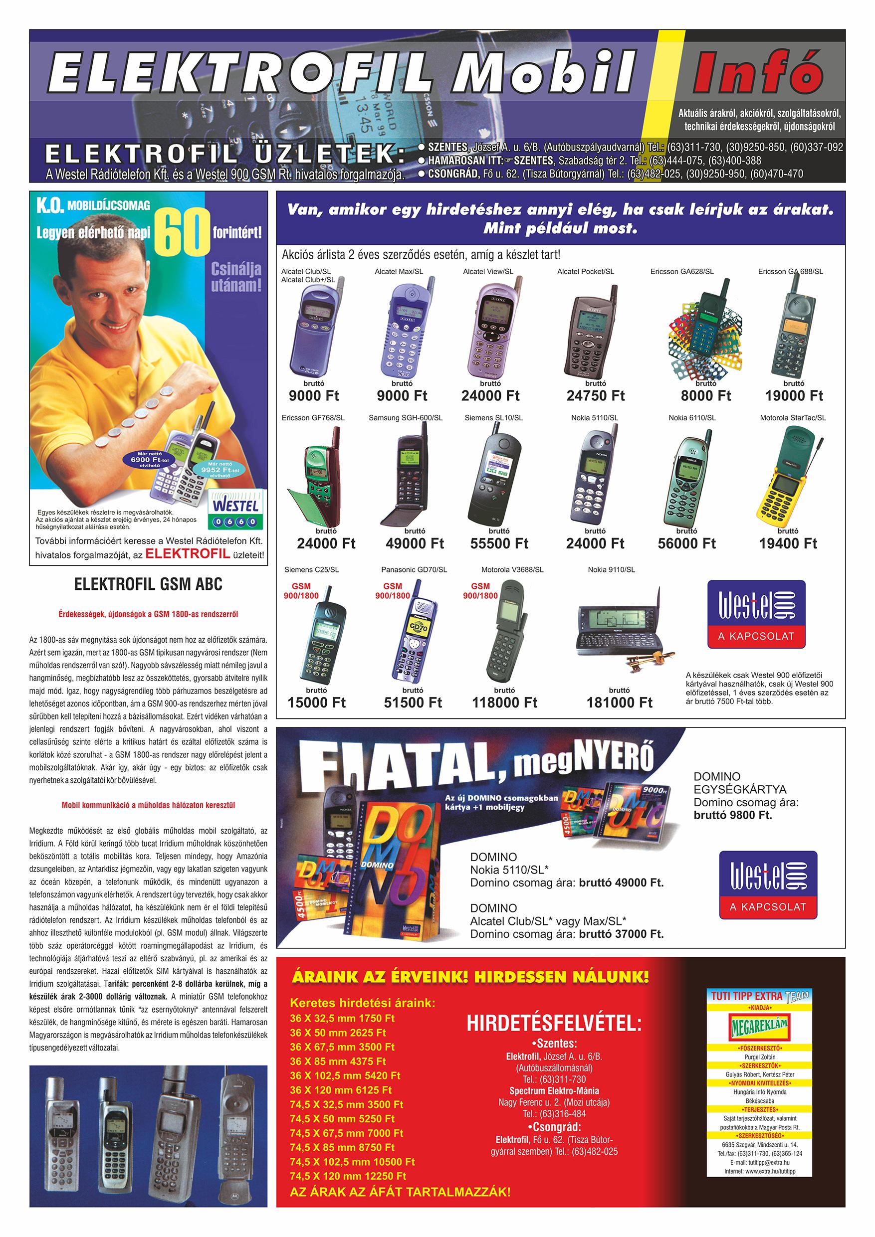 026 Tuti Tipp Extra reklámújság - 19990626-001. lapszám - 2.oldal - V. évfolyam.jpg