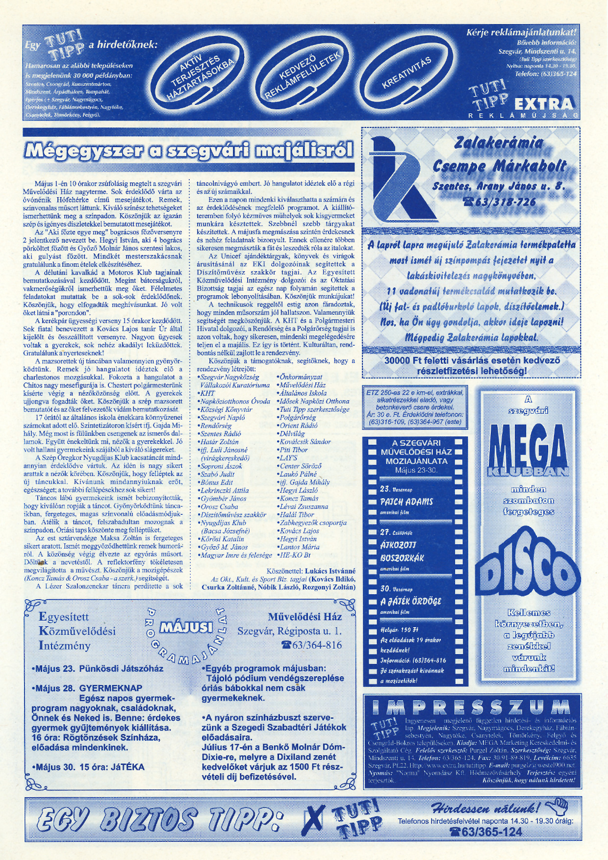 020 Tuti Tipp reklámújság - 19990522-121. lapszám - 2.oldal - V. évfolyam.jpg