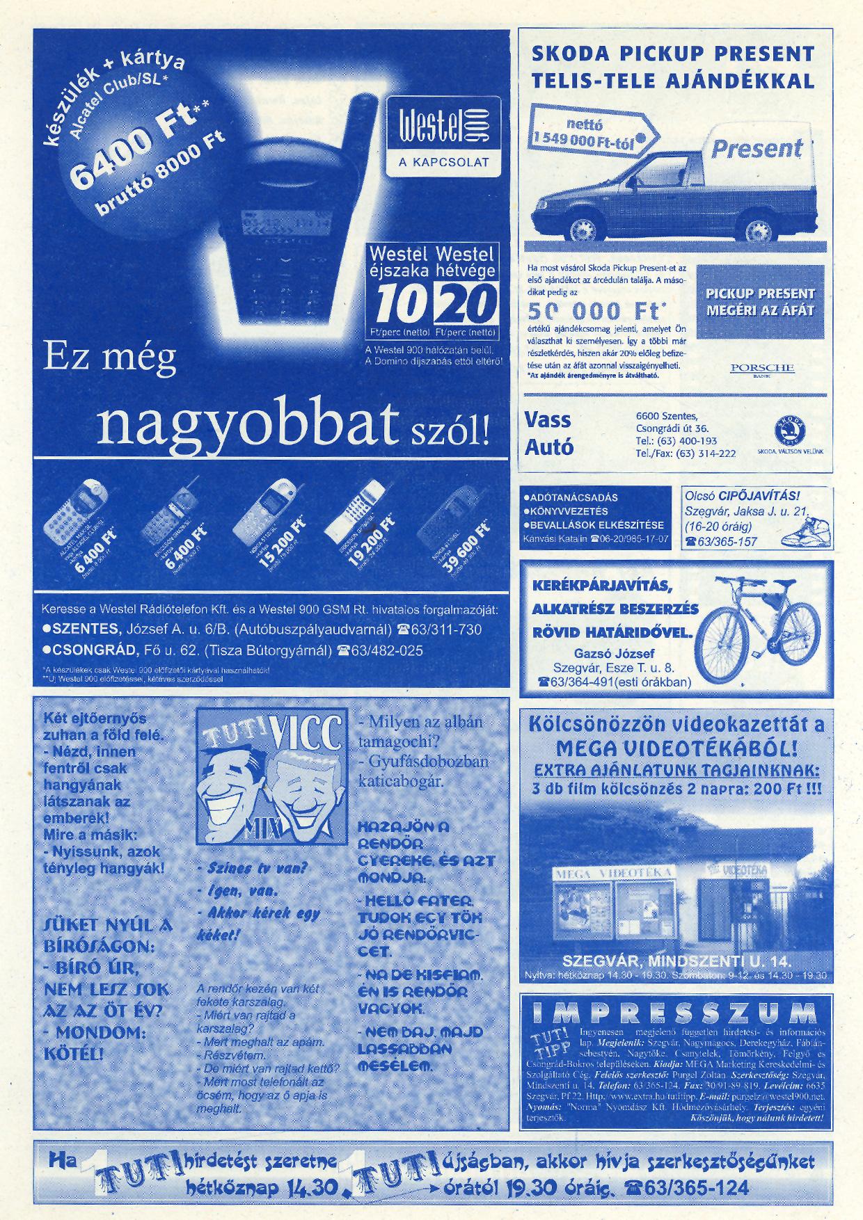 006 Tuti Tipp reklámújság - 19990227-115. lapszám - 2.oldal - V. évfolyam.jpg