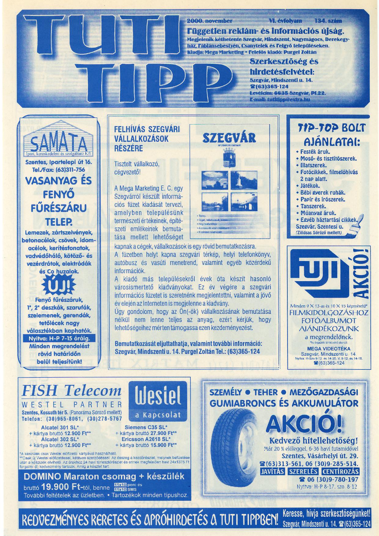 021 Tuti Tipp reklámújság - 200011-134. lapszám - 1.oldal - VI. évfolyam.jpg
