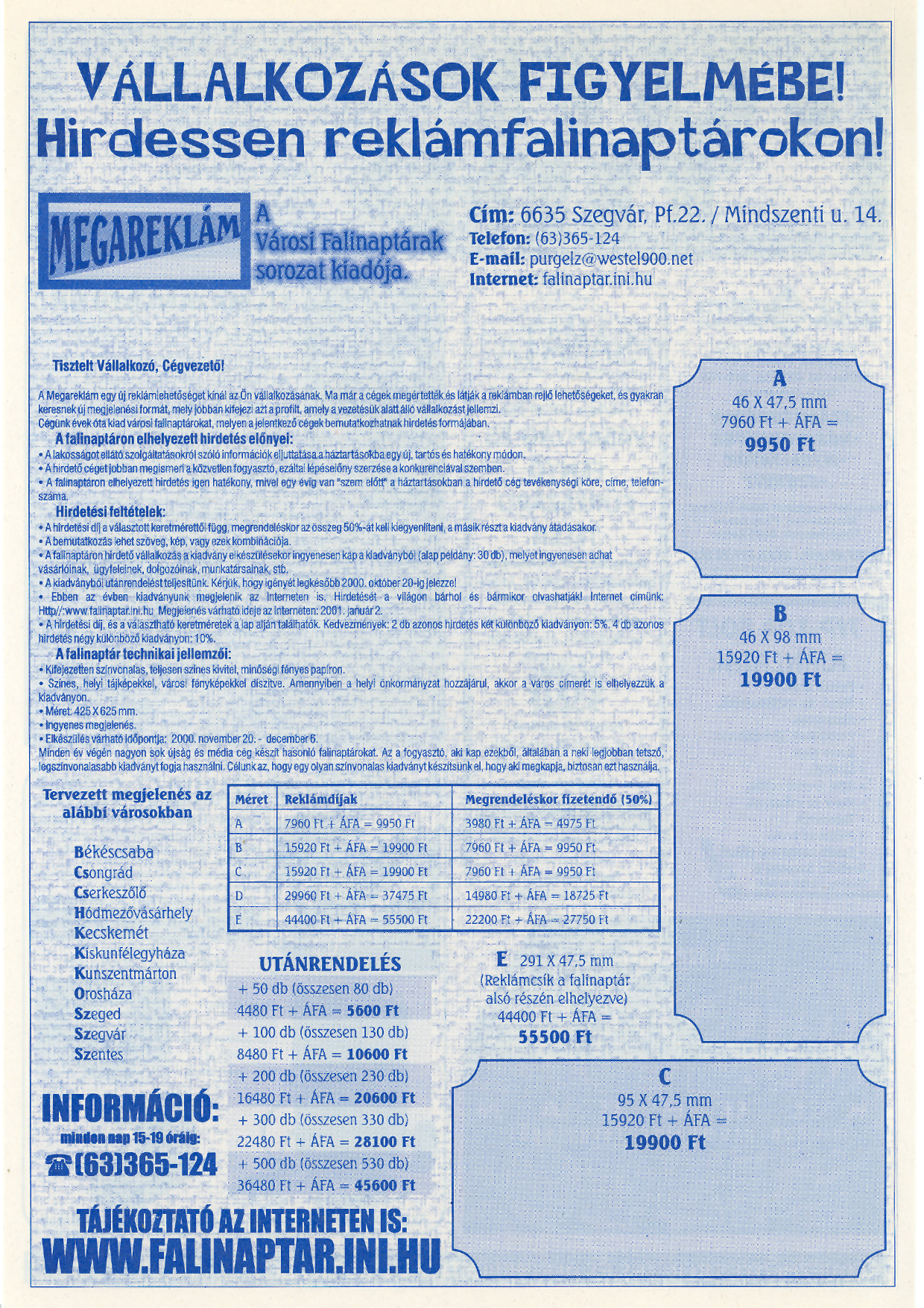 016 Tuti Tipp reklámújság - 20000722-131. lapszám - 2.oldal - VI. évfolyam.jpg