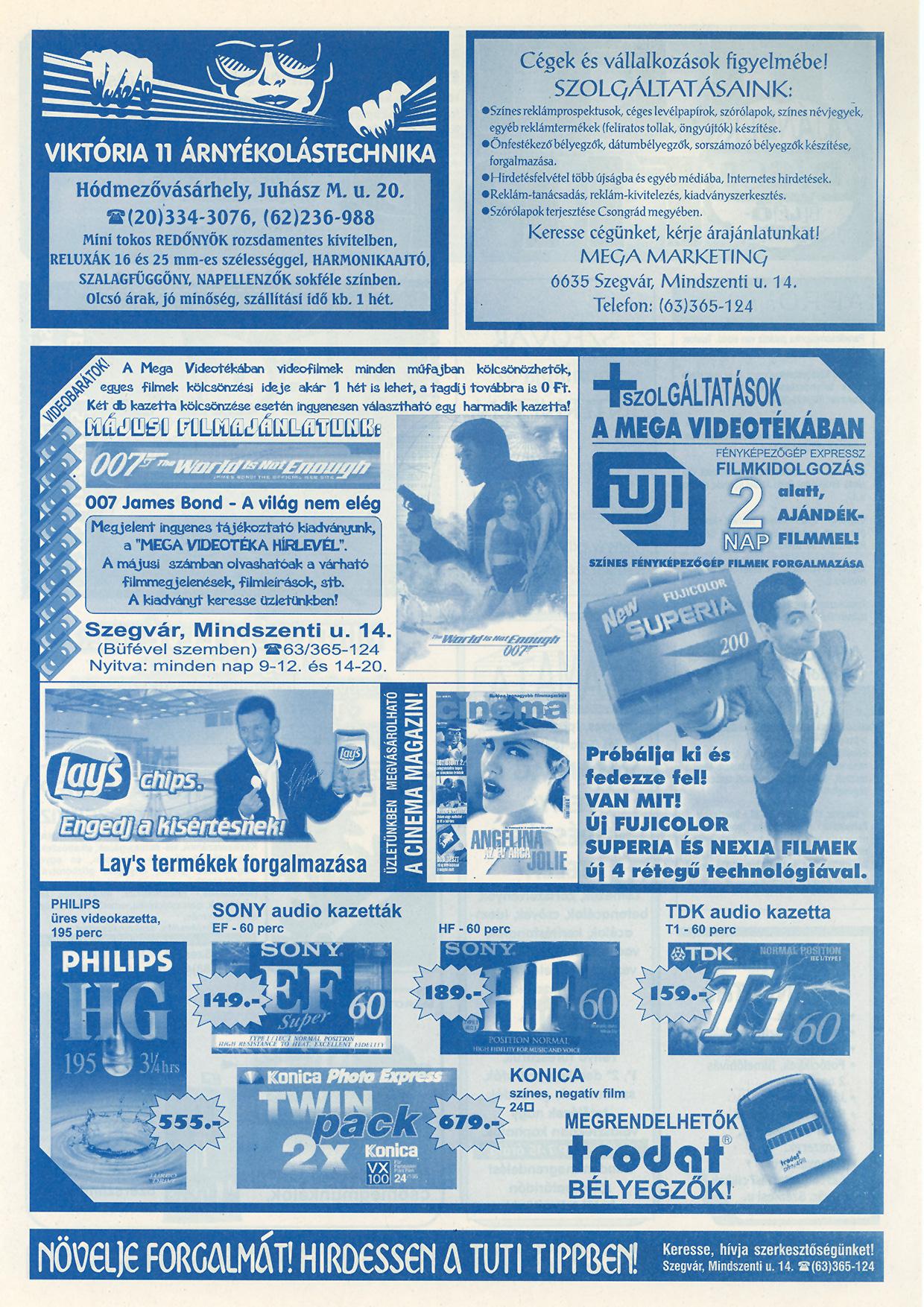 008 Tuti Tipp reklámújság - 20000526-127. lapszám - 2.oldal - VI. évfolyam.jpg