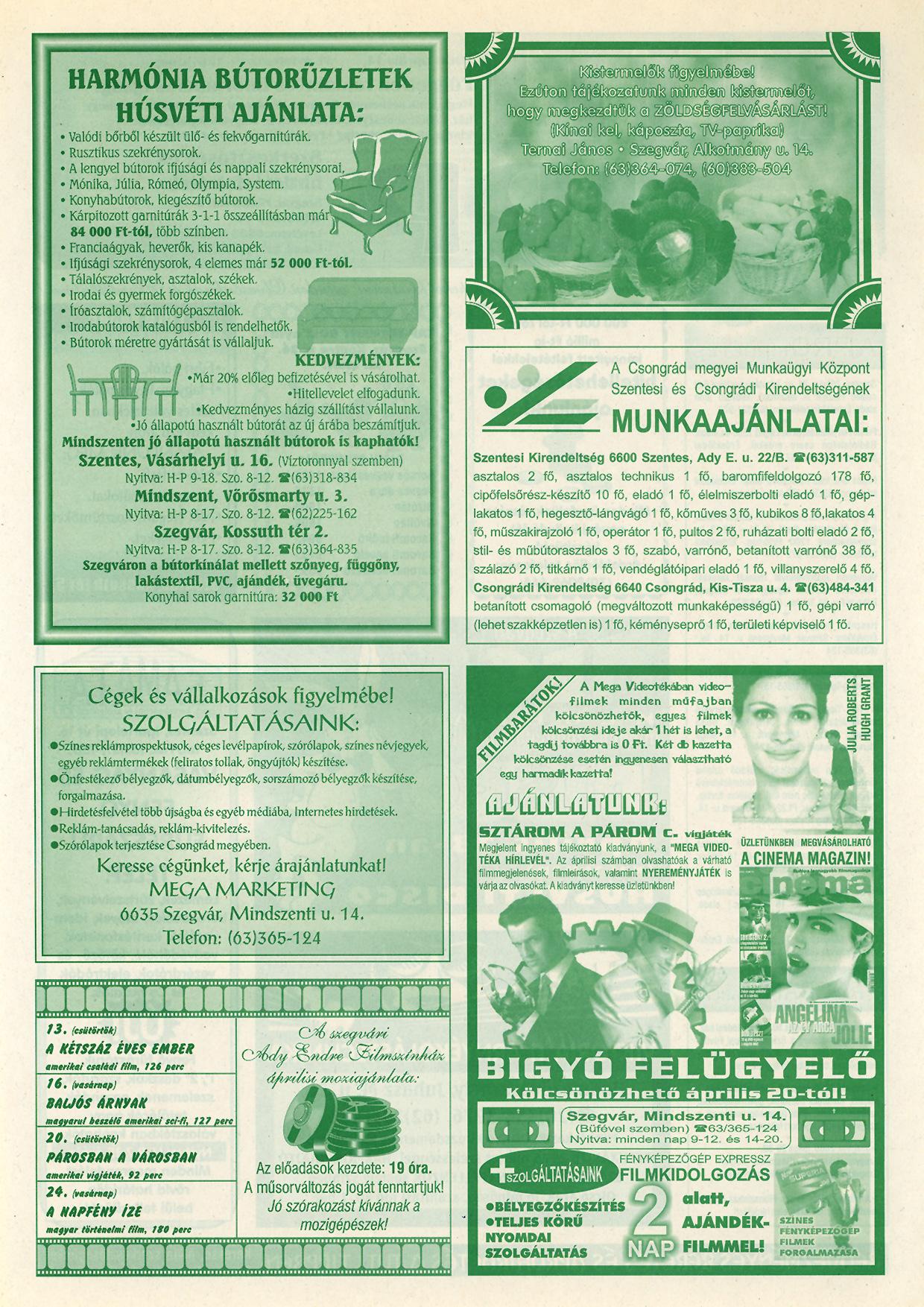 004 Tuti Tipp reklámújság - 20000414-125. lapszám - 2.oldal - VI. évfolyam.jpg