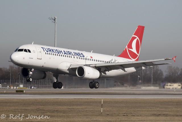 TC-JPJ Airbus A320 Turkish Airlines Munich Airport EDDM 17.02-19