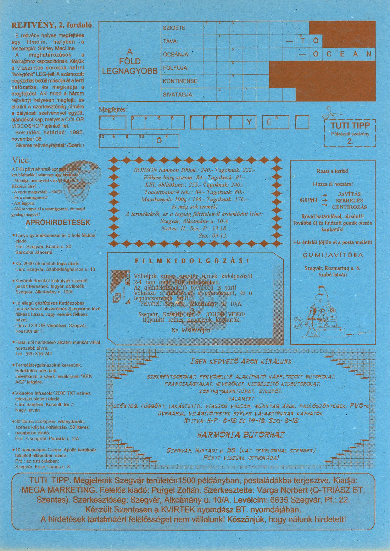 012 Tuti Tipp reklámújság - 19951014-005. lapszám -2.oldal - I. évfolyam.jpg