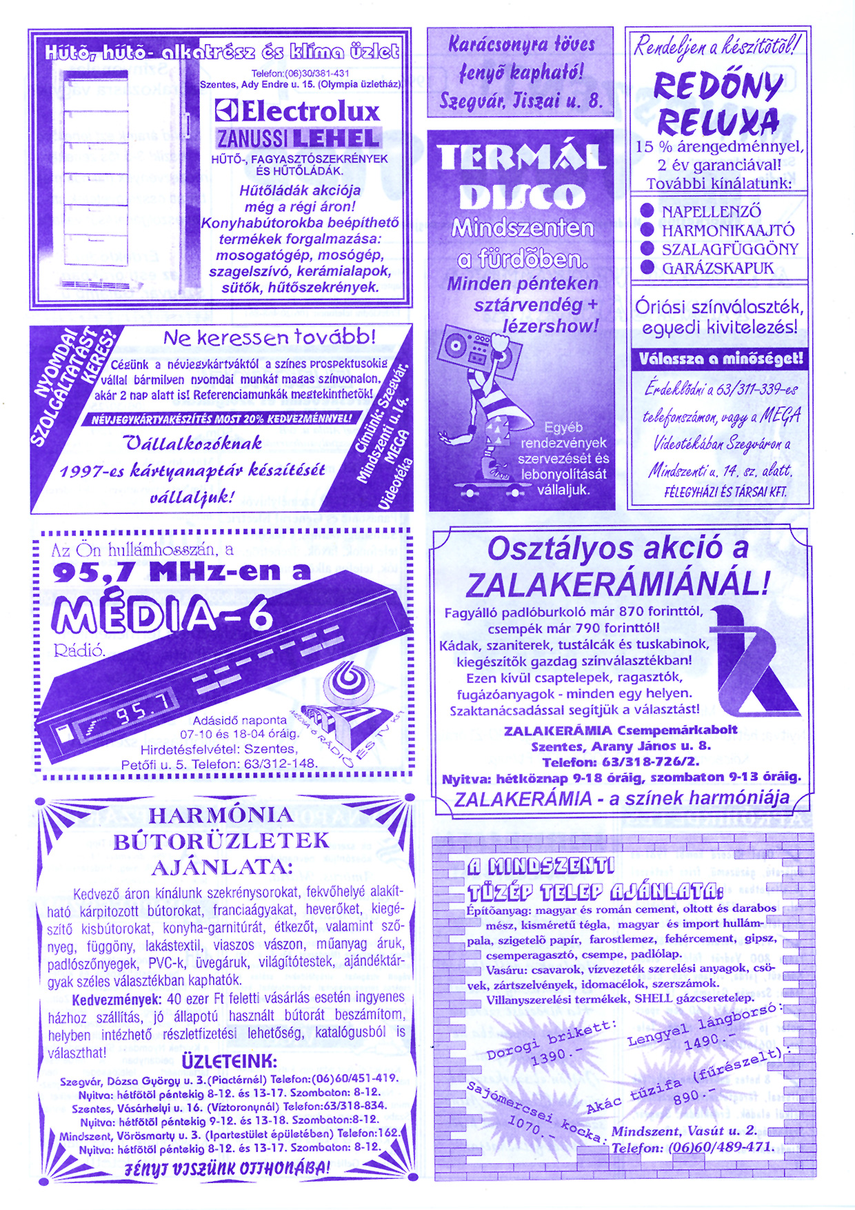 082 Mindszenti Tuti Tipp reklámújság - 19961207-013. lapszám - 2.oldal - II. évfolyam.jpg