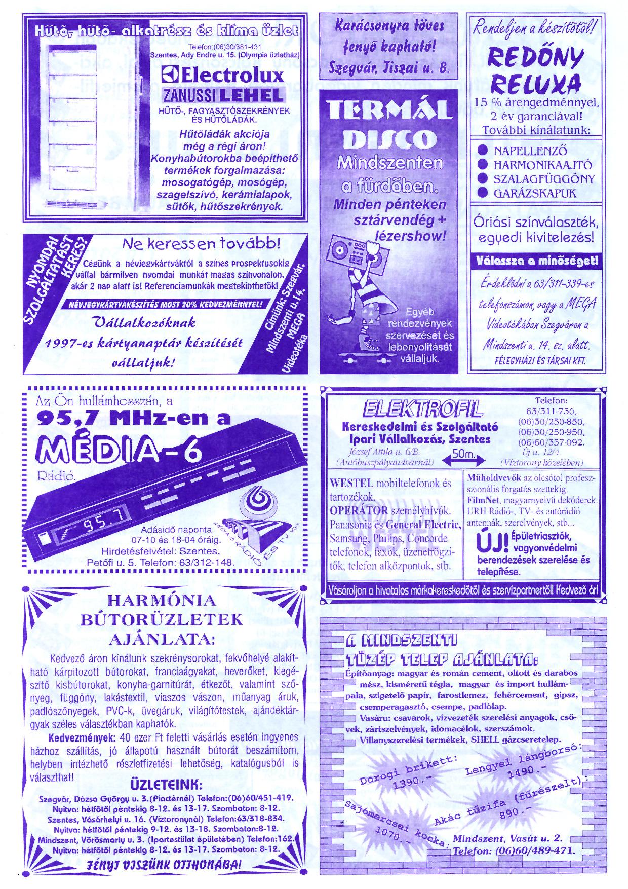 080 Szegvári Tuti Tipp reklámújság - 19961207-036. lapszám - 4.oldal - II. évfolyam.jpg