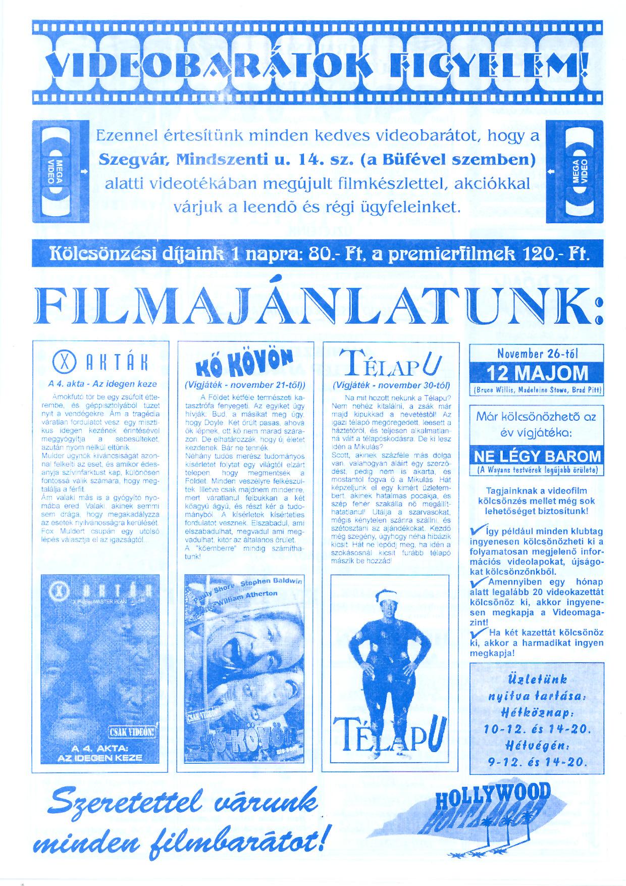 069 Szegvári Tuti Tipp reklámújság - 19961116-034. lapszám - 3.oldal - II. évfolyam.jpg