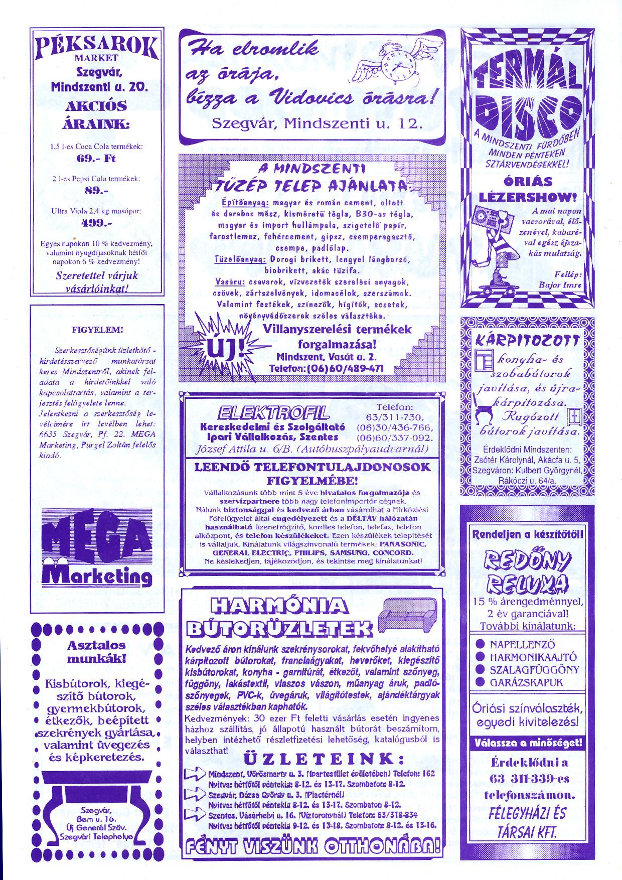 060 Szegvári és Mindszenti Tuti Tipp reklámújság - 19961019-032-009. lapszám - 2.oldal - II. évfolyam.jpg