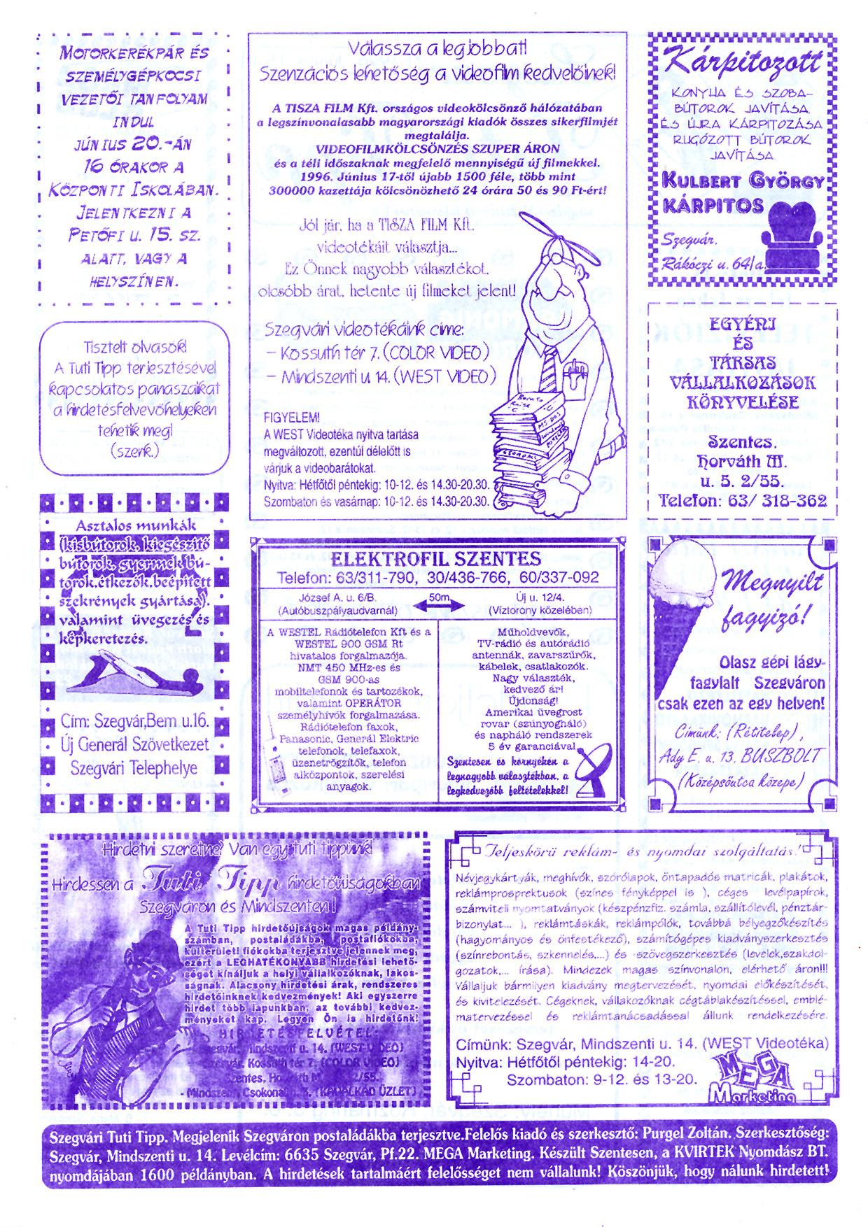 026 Szegvári Tuti Tipp reklámújság - 19960615-024. lapszám - 2.oldal - II. évfolyam.jpg
