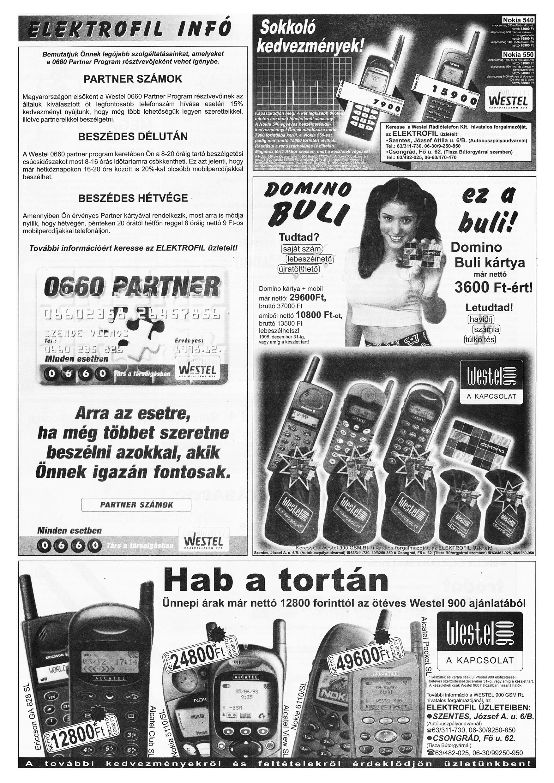 059 Tuti Tipp reklámújság különszám - 19981205-099+009. lapszám - 3.oldal - IV. évfolyam.jpg