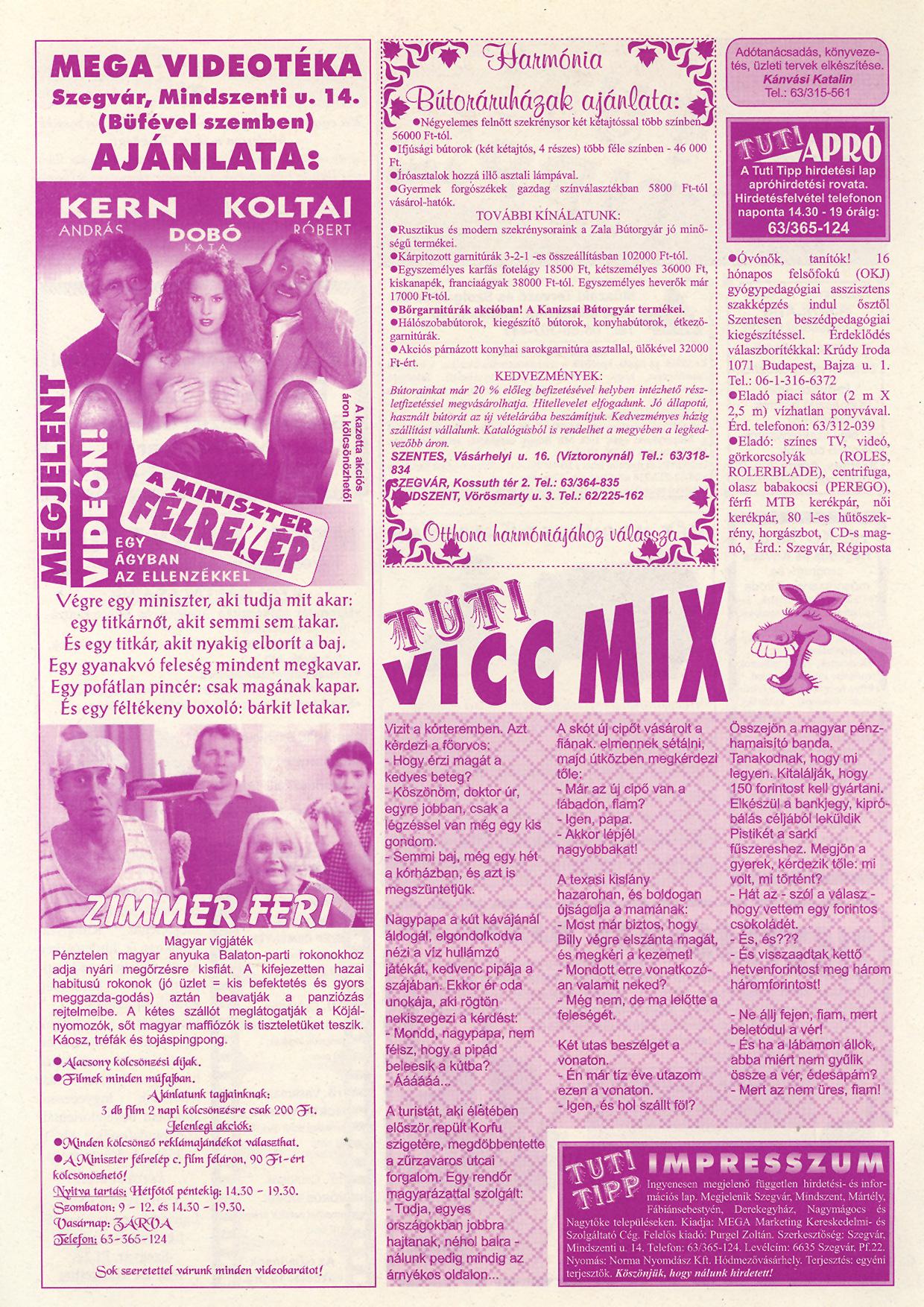 040 Tuti Tipp reklámújság - 19980905-092. lapszám - 2.oldal - IV. évfolyam.jpg