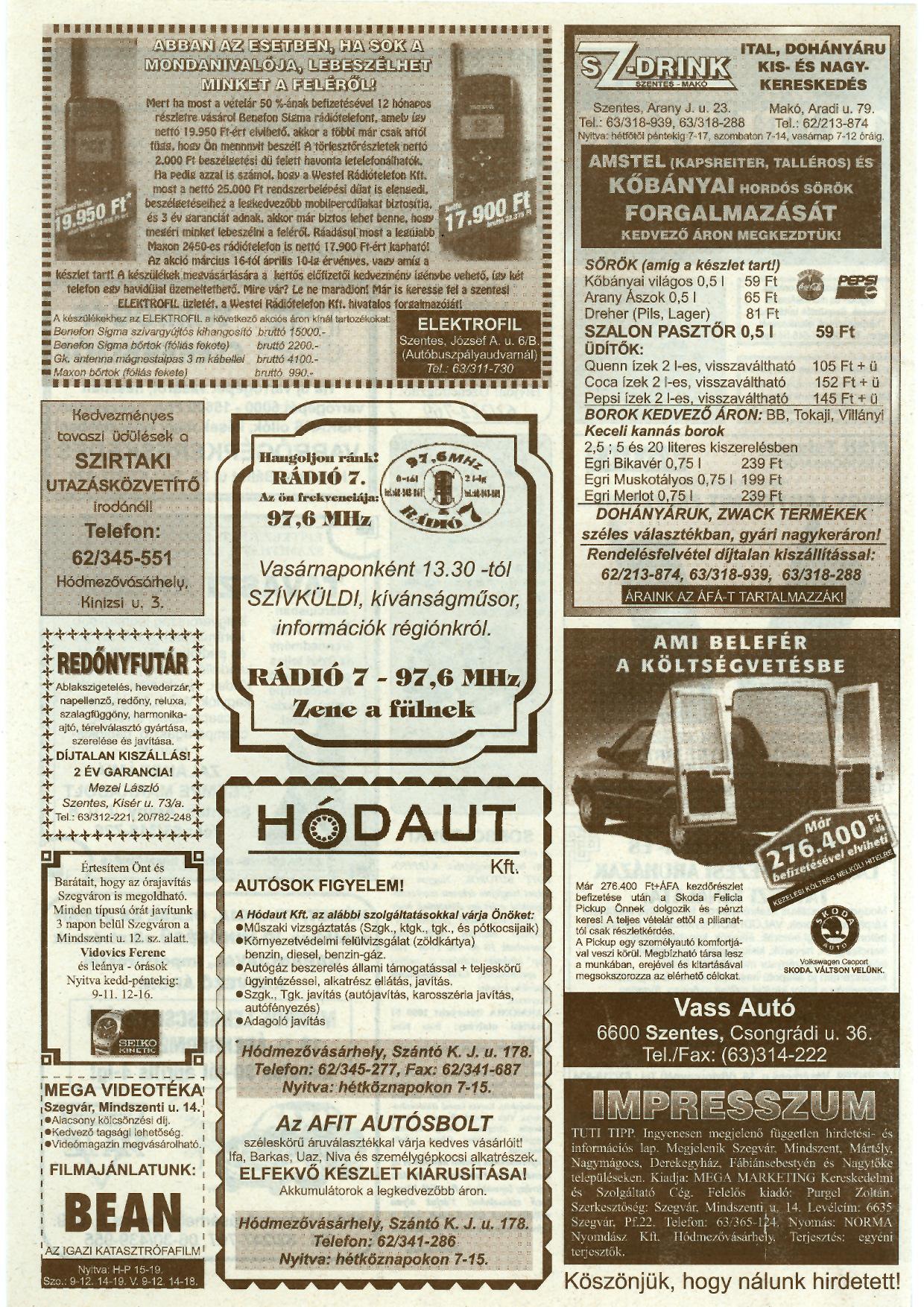 010 Tuti Tipp reklámújság - 19980328-082. lapszám - 2.oldal - IV. évfolyam.jpg