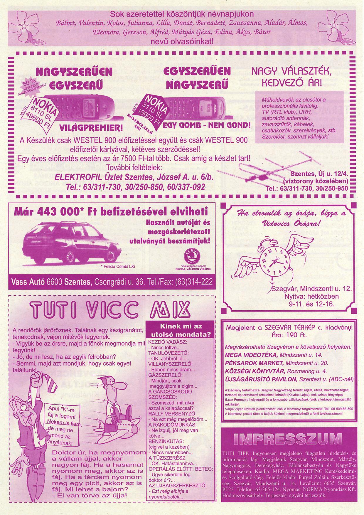 004 Tuti Tipp reklámújság - 19980214-079. lapszám - 2.oldal - IV. évfolyam.jpg