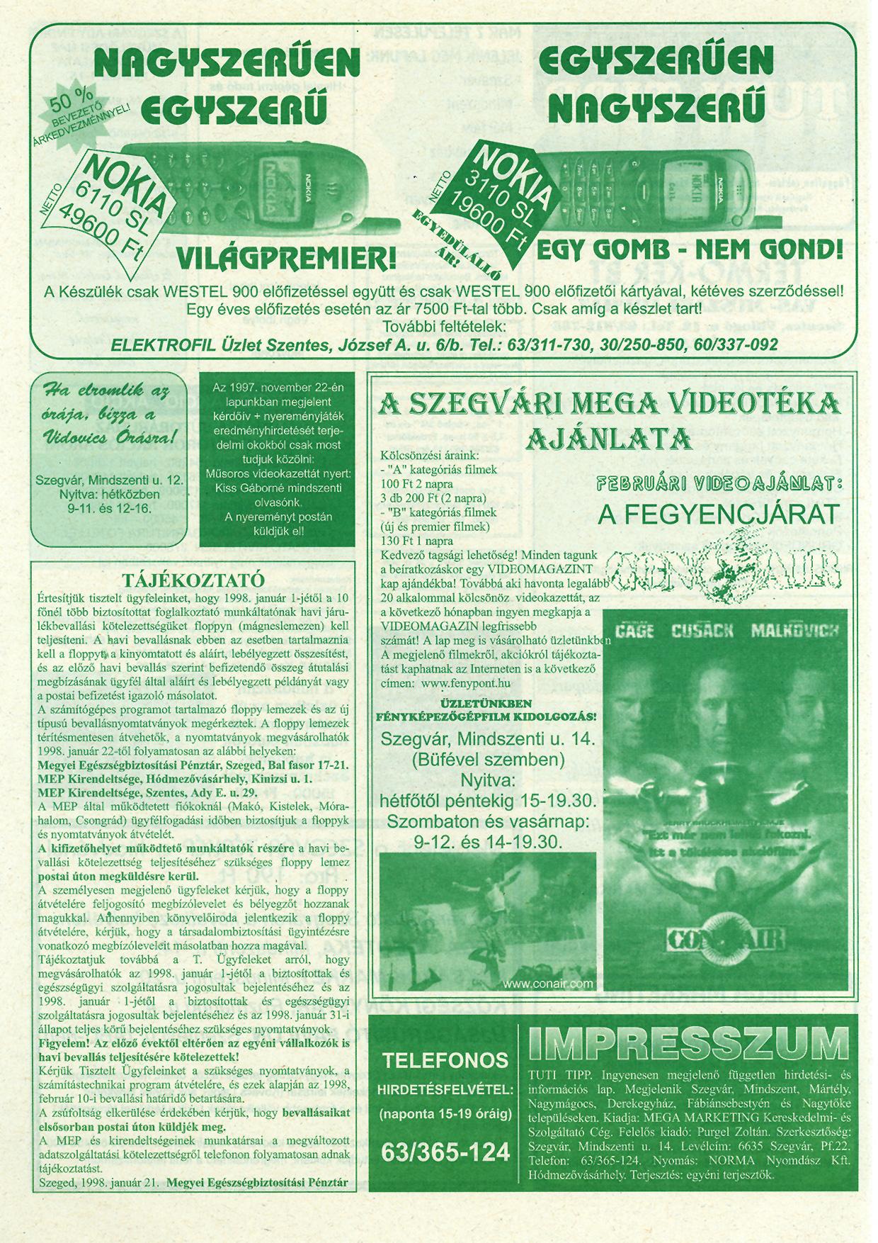 002 Tuti Tipp reklámújság - 19980131-078. lapszám - 2.oldal - IV. évfolyam.jpg