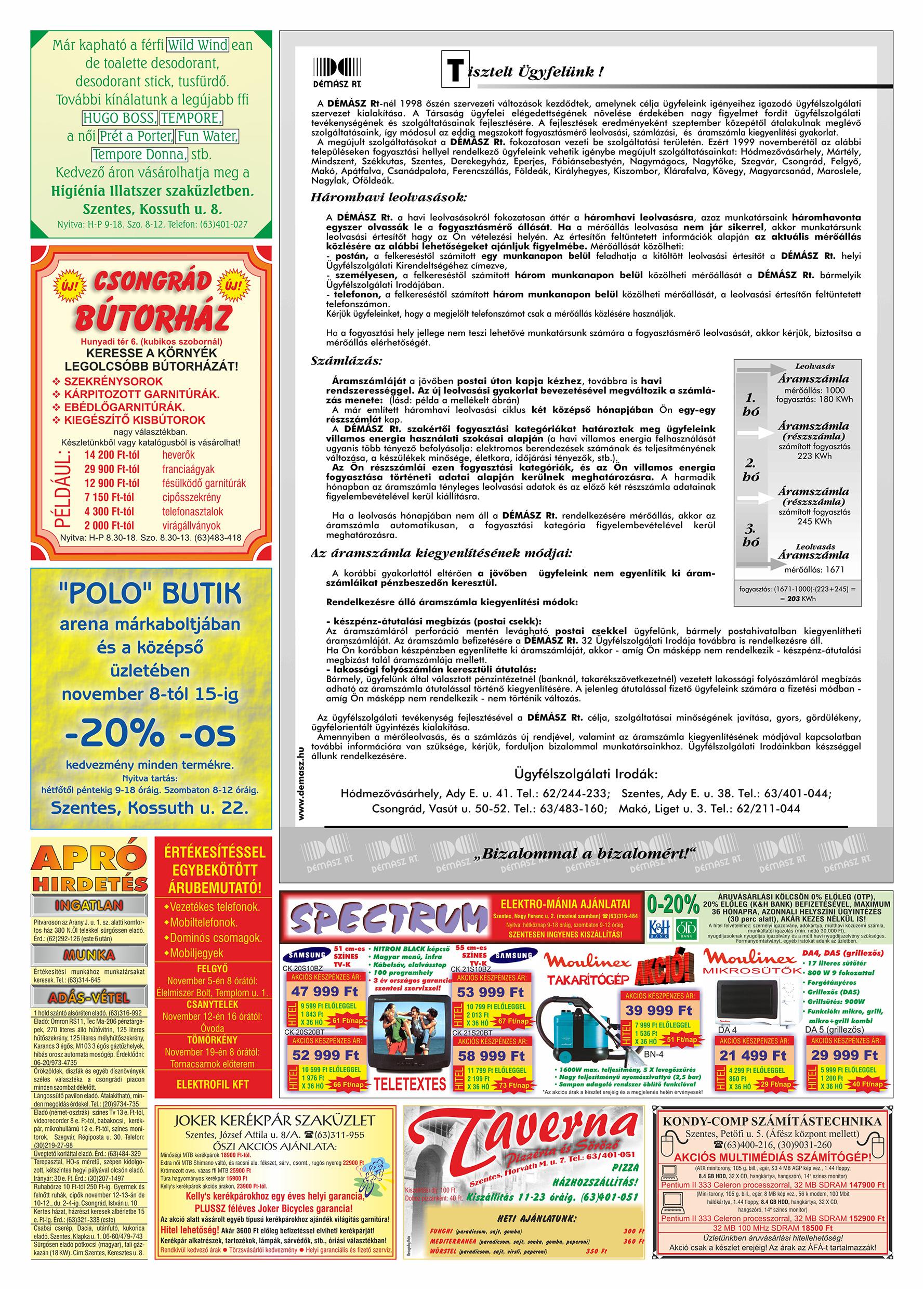 066 Tuti Tipp Extra reklámújság - 19991106-020. lapszám - 2.oldal - V. évfolyam.jpg