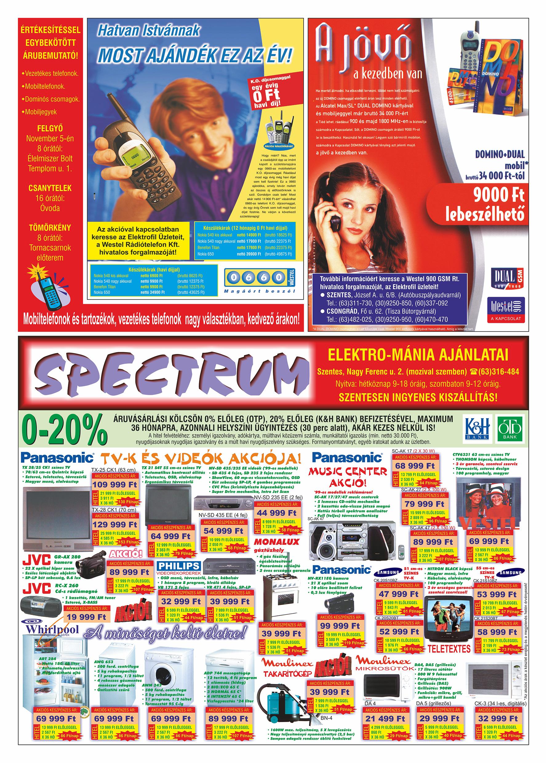 064 Tuti Tipp Extra reklámújság - 19991030-019. lapszám - 2.oldal - V. évfolyam.jpg