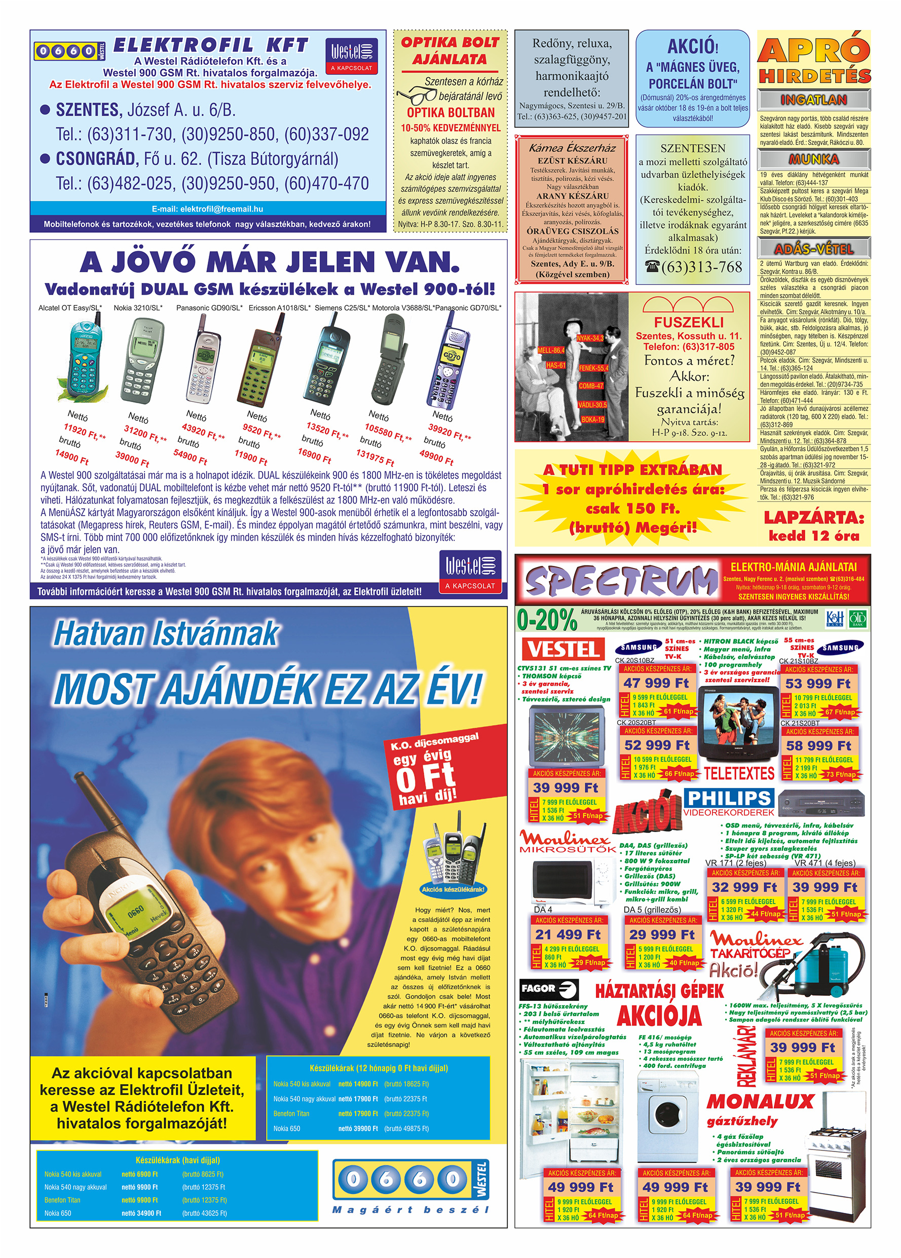 060 Tuti Tipp Extra reklámújság - 19991016-017. lapszám - 2.oldal - V. évfolyam.jpg