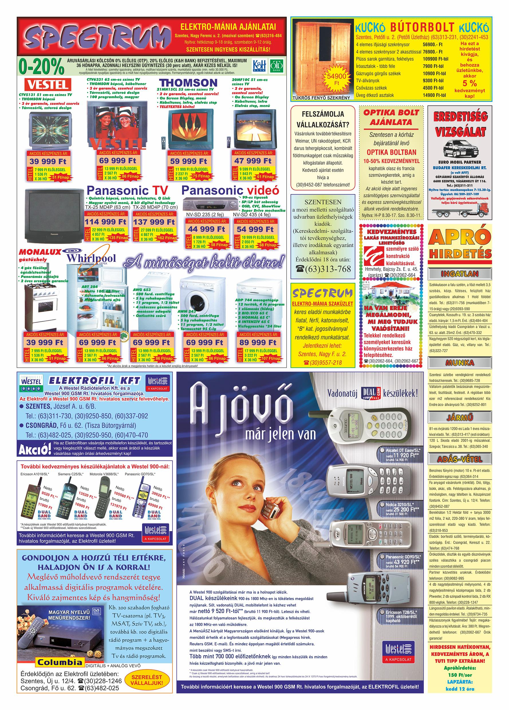 054 Tuti Tipp Extra reklámújság - 19990925-014. lapszám - 2.oldal - V. évfolyam.jpg