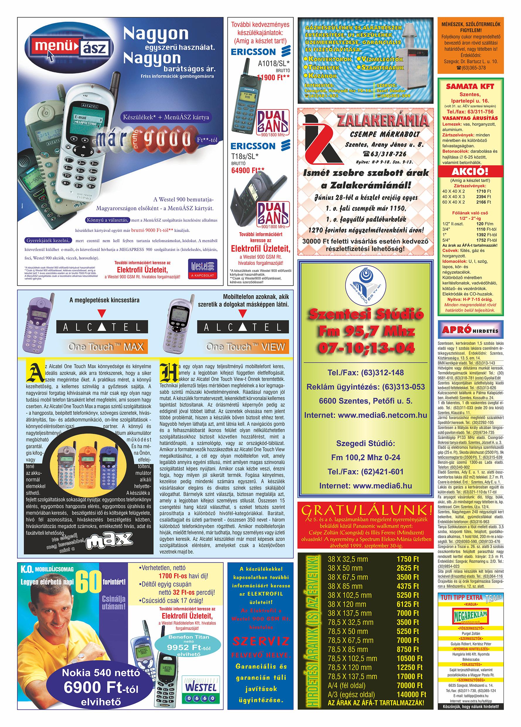 044 Tuti Tipp Extra reklámújság - 19990821-009. lapszám - 2.oldal - V. évfolyam.jpg