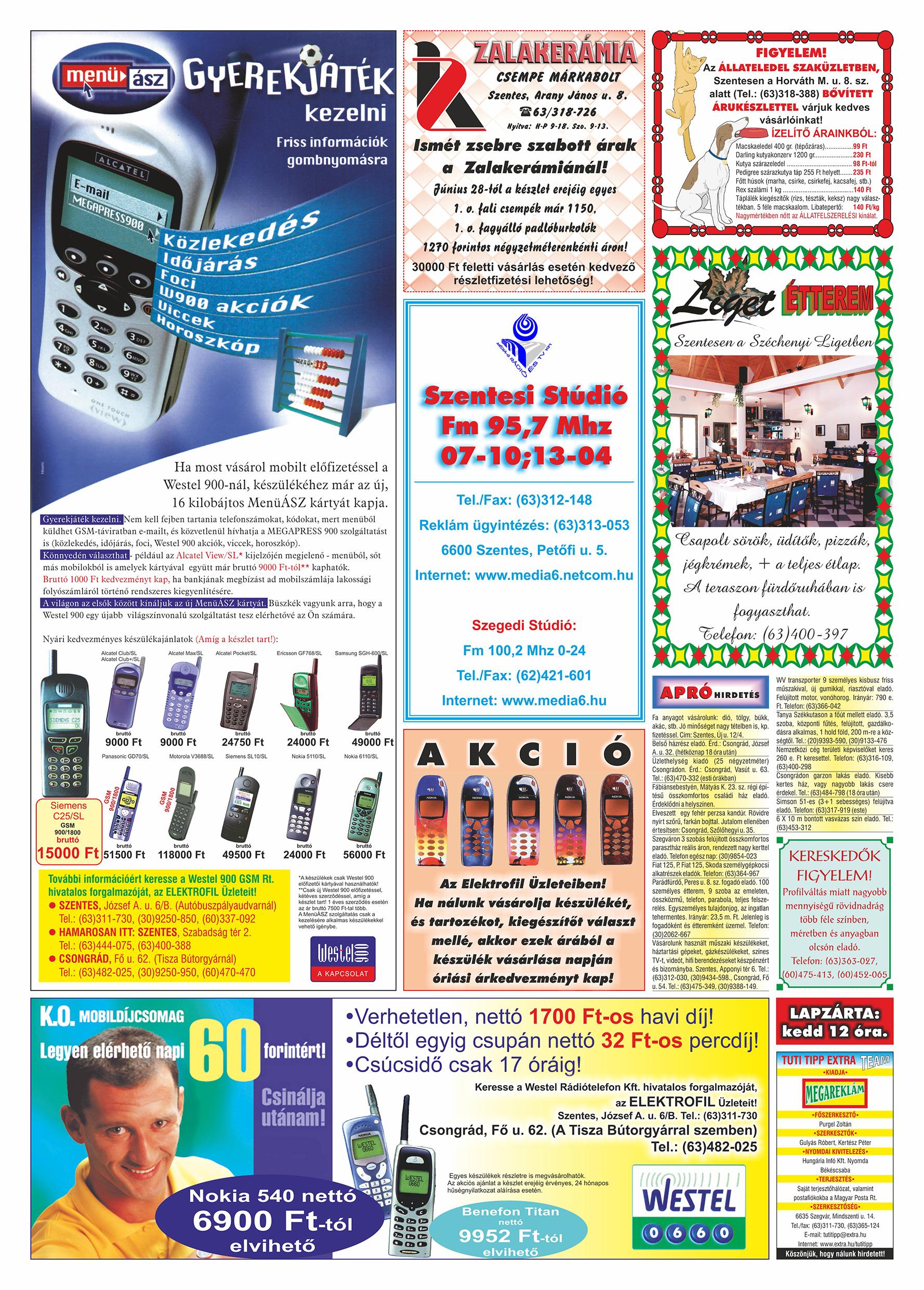 036 Tuti Tipp Extra reklámújság - 19990724-005. lapszám - 2.oldal - V. évfolyam.jpg