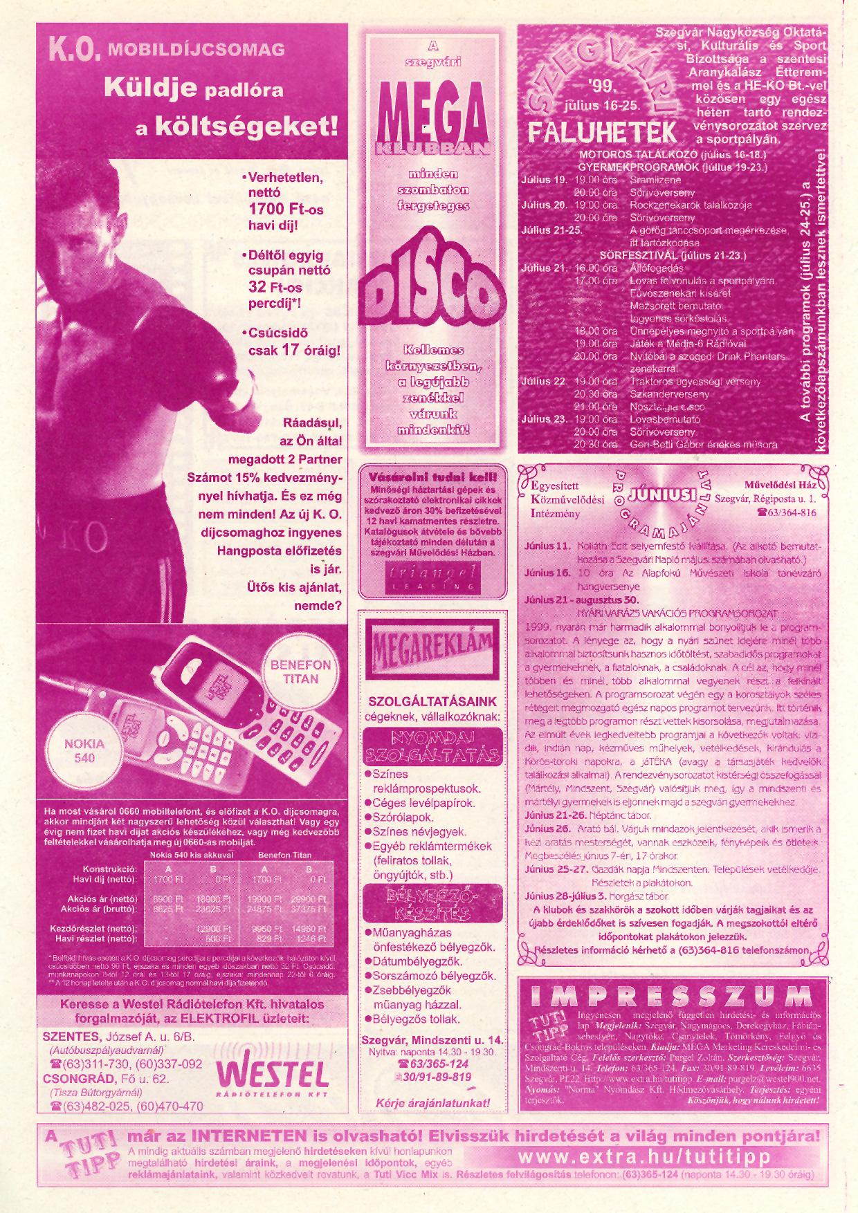 022 Tuti Tipp reklámújság - 19990605-122. lapszám - 2.oldal - V. évfolyam.jpg