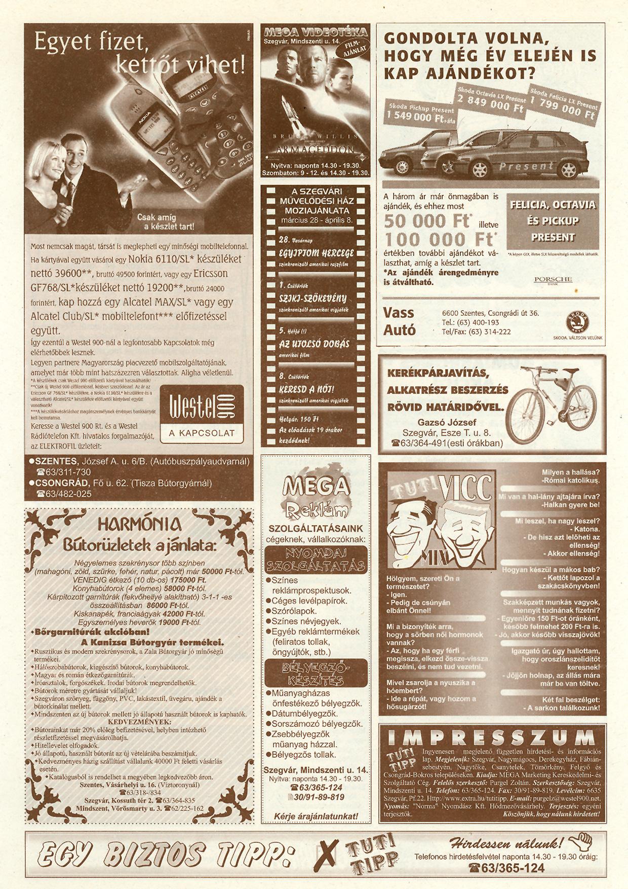 010 Tuti Tipp reklámújság - 19990327-117. lapszám - 2.oldal - V. évfolyam.jpg