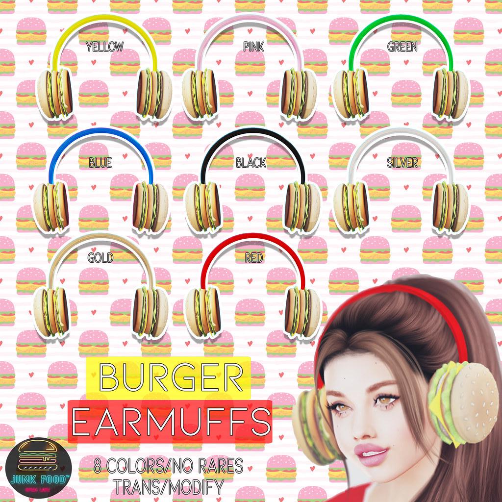 Junk Food – Burger Earmuffs Gacha