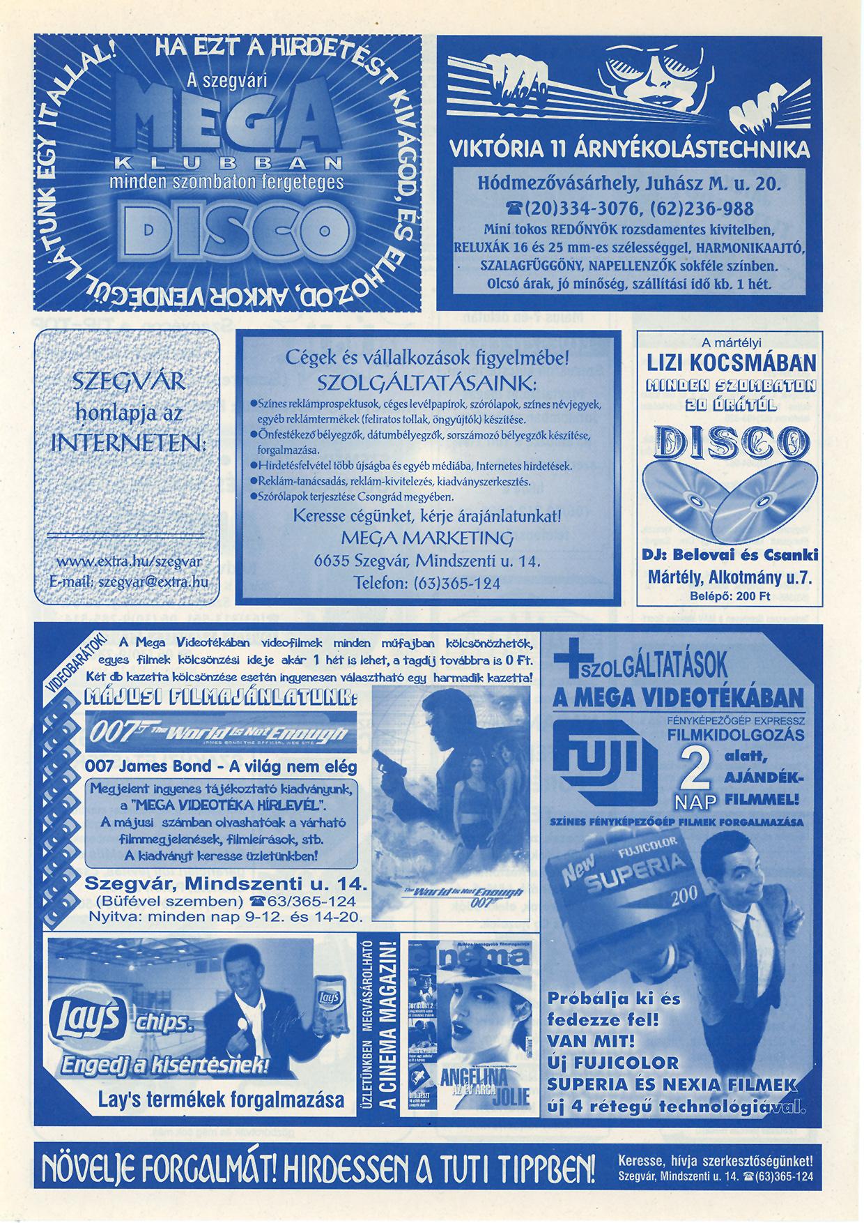 006 Tuti Tipp reklámújság - 20000512-126. lapszám - 2.oldal - VI. évfolyam.jpg