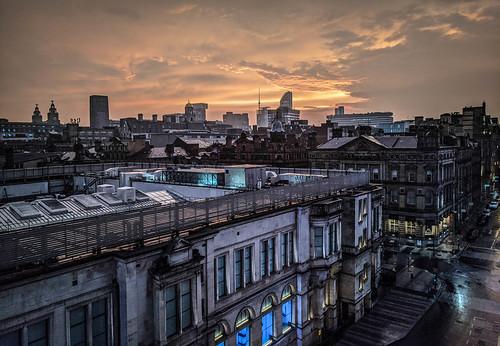 merseyside landscape cityscape city urban architecture sunset dusk evening atmosphere