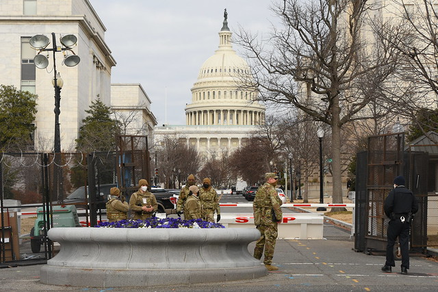 Washington DC Lockdown 27 - National Guard Troops and Capitol